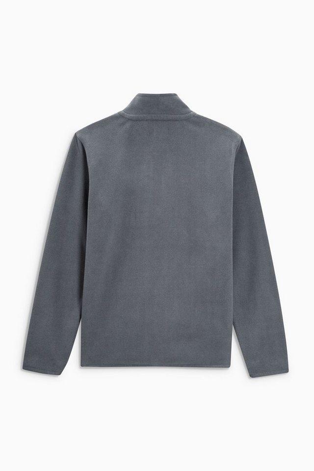 Next Fleece-Pullover mit RV-Kragen in Charcoal