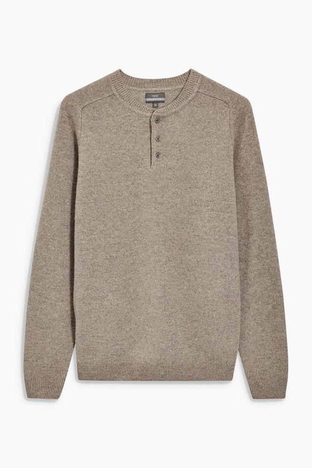 Next Grandad-Shirt in Premium-Qualität in Taupe