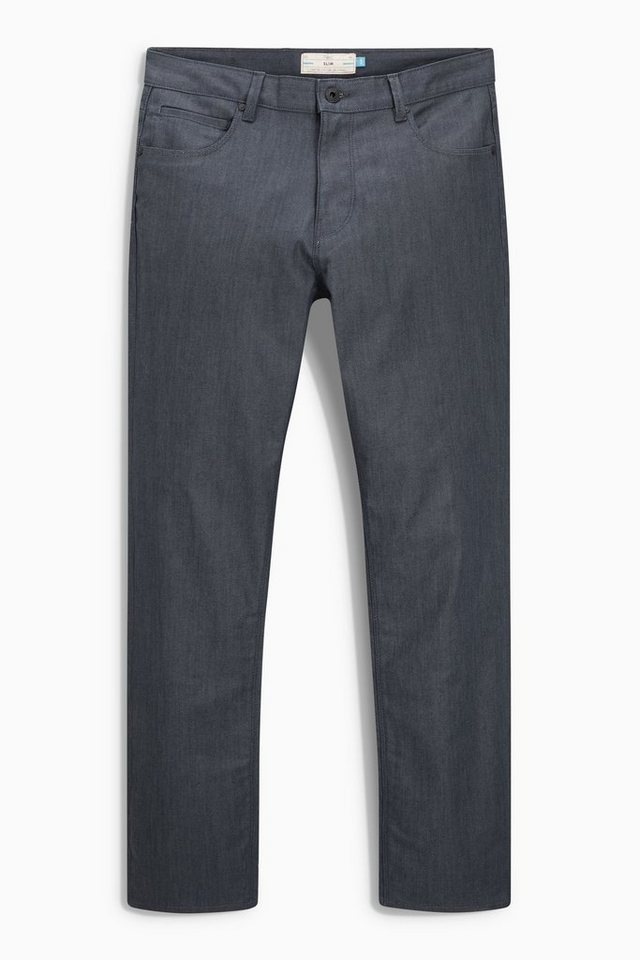 Next Slim-Fit Coated Denim Jeans in Navy Blue Slim Fit