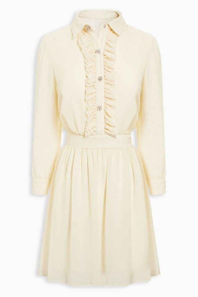 Next Hemdblusenkleid mit Rüschendetails in Cream
