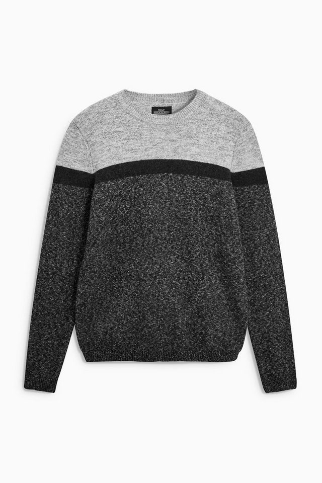 Next Sweatshirt mit Rundhalsausschnitt in Colourblock-Optik in Grey