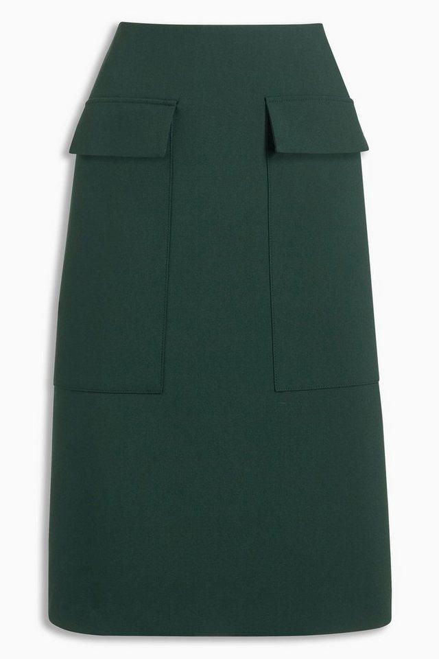 Next A-Linien-Rock mit Taschen in Green