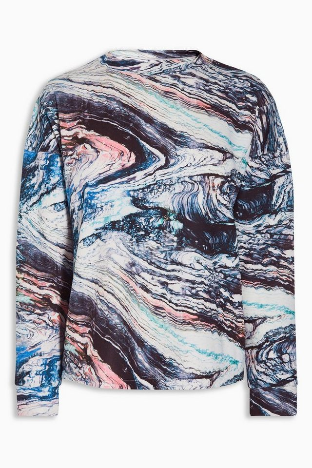 Next Scuba-Sweatshirt mit Print in Ecru/Navy
