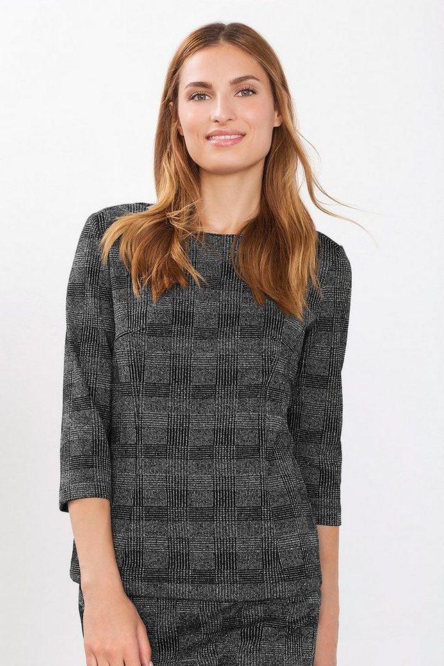 ESPRIT COLLECTION Glencheck Sweatshirt mit Stretch in BLACK