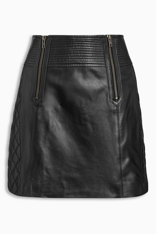 Next A-Linien-Rock aus Leder in Black
