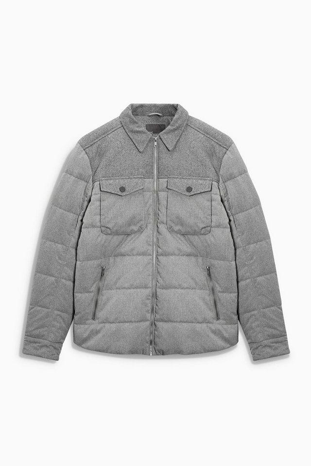 Next Wattierte Jacke in Grey