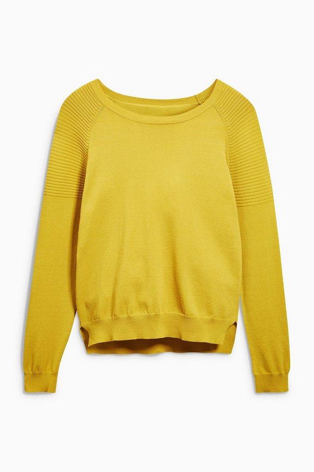 Next Pullover mit Rundhalsausschnitt in Ochre