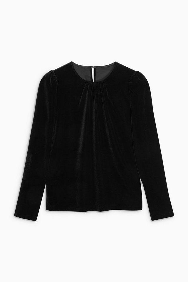 Next Shirt aus Samt in Black