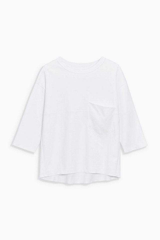 Next Shirt mit Taschen in White