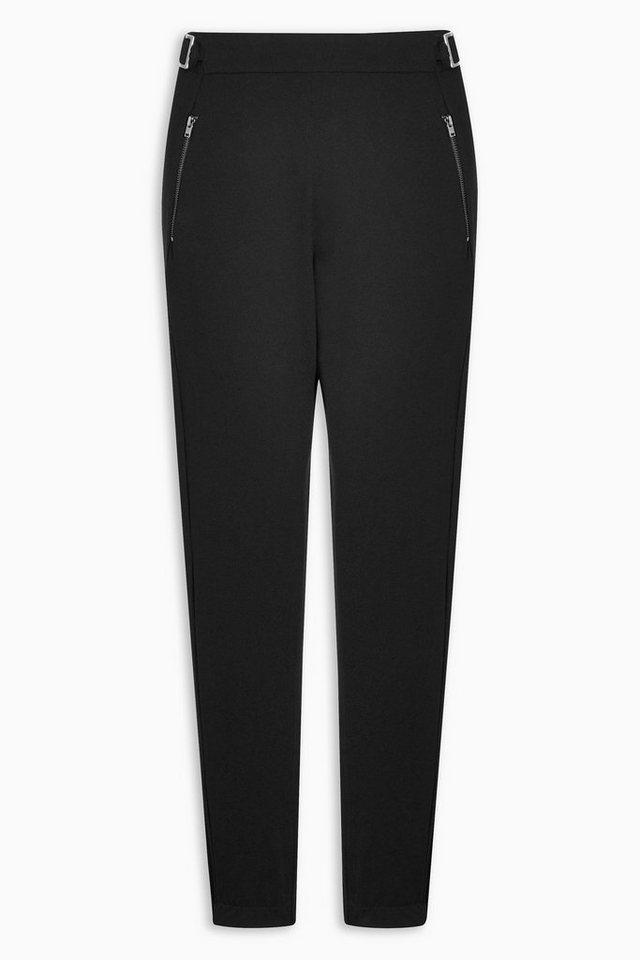Next Hose mit Reißverschlussdetail in Black