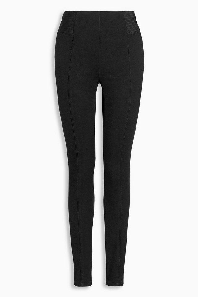 Next Leggings aus Denim mit elastischem Bund in Black