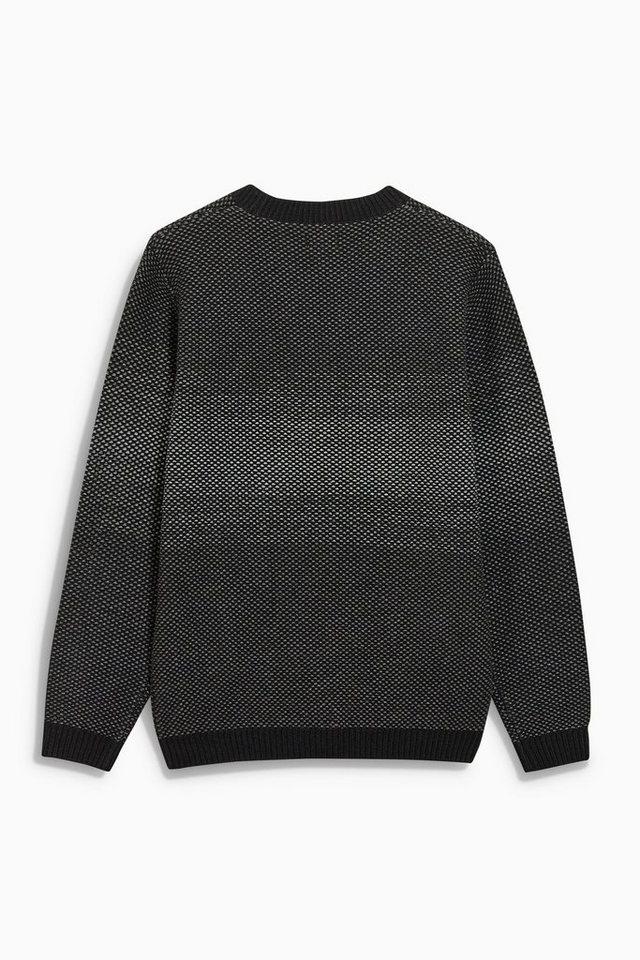 Next Farblich abgestimmter Pullover mit Rundhalsausschnitt in Black
