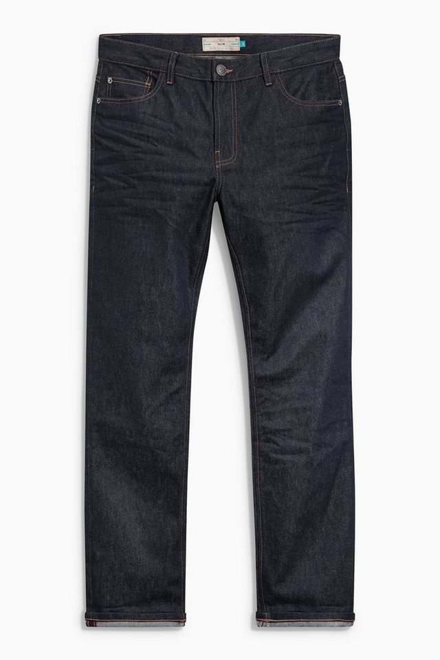 Next Raw Denim-Jeans in Blue Slim Fit