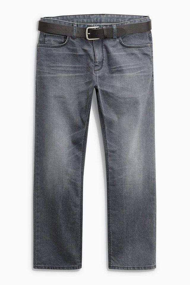 Next Loose-Fit Jeans mit Gürtel 2 teilig in Grey Loose Fit