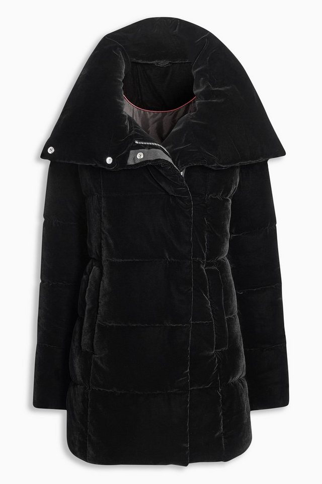 Next Steppjacke aus Samt in Black
