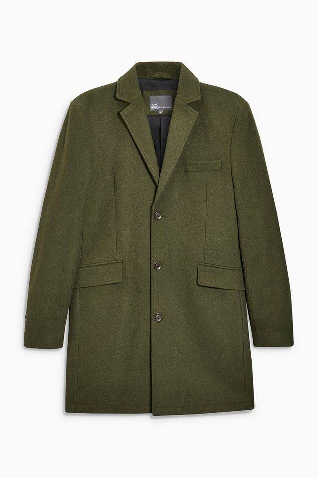 Next Mantel aus Wollmischung in Khaki