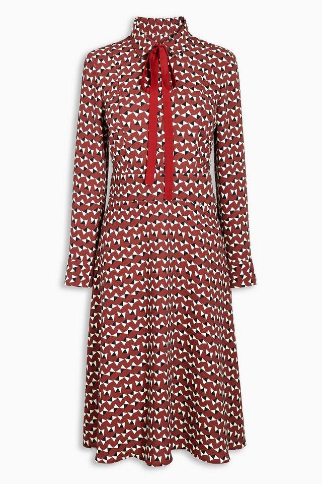 Next Kleid mit geometrischem Muster in Red