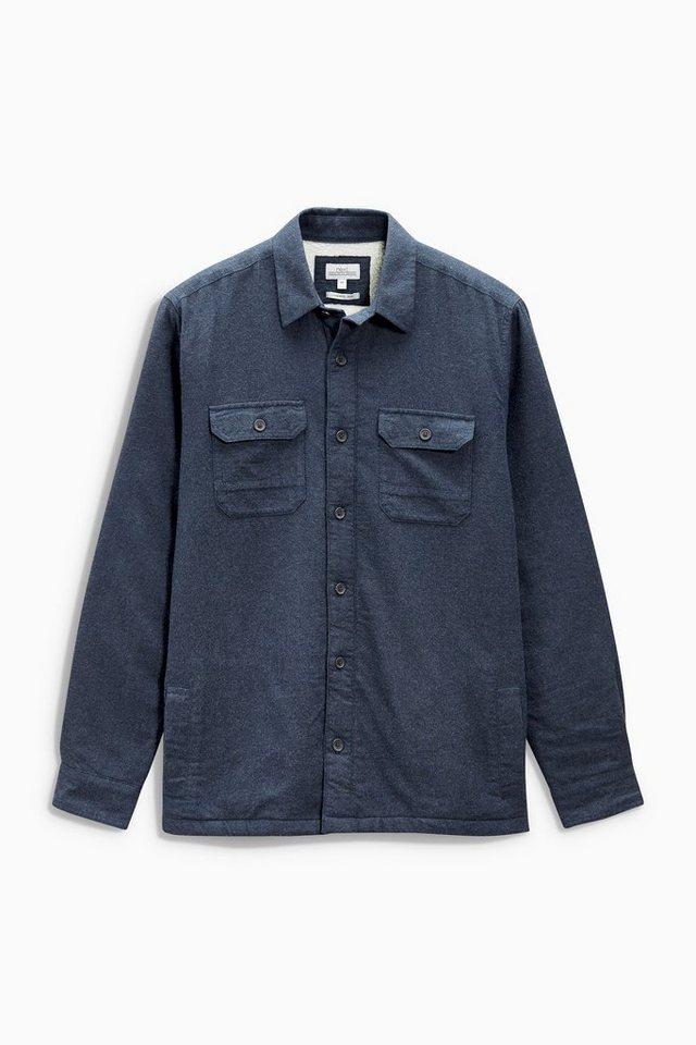 Next Gefütterte Jacke im Hemdenstil in Blue