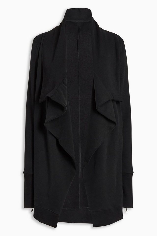Next Lange Strickjacke aus Sweatshirtstoff in Black
