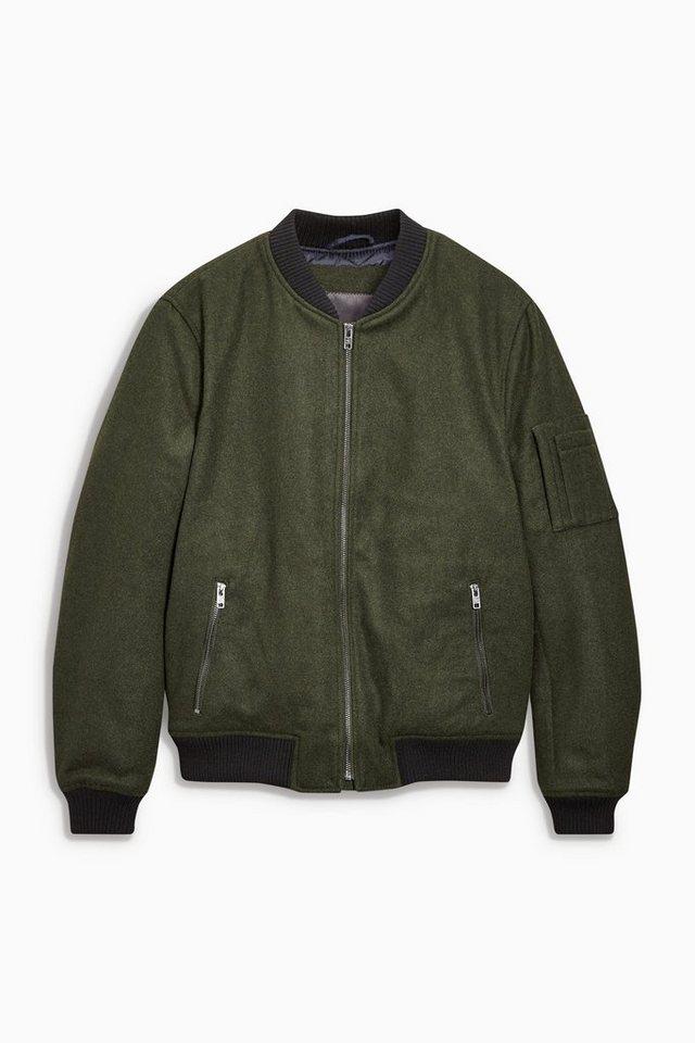 Next Jacke aus Wollmischung in Green