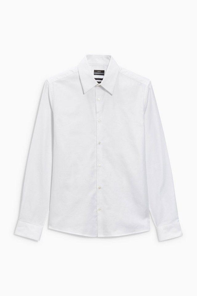 Next Hochwertiges Strukturhemd in White