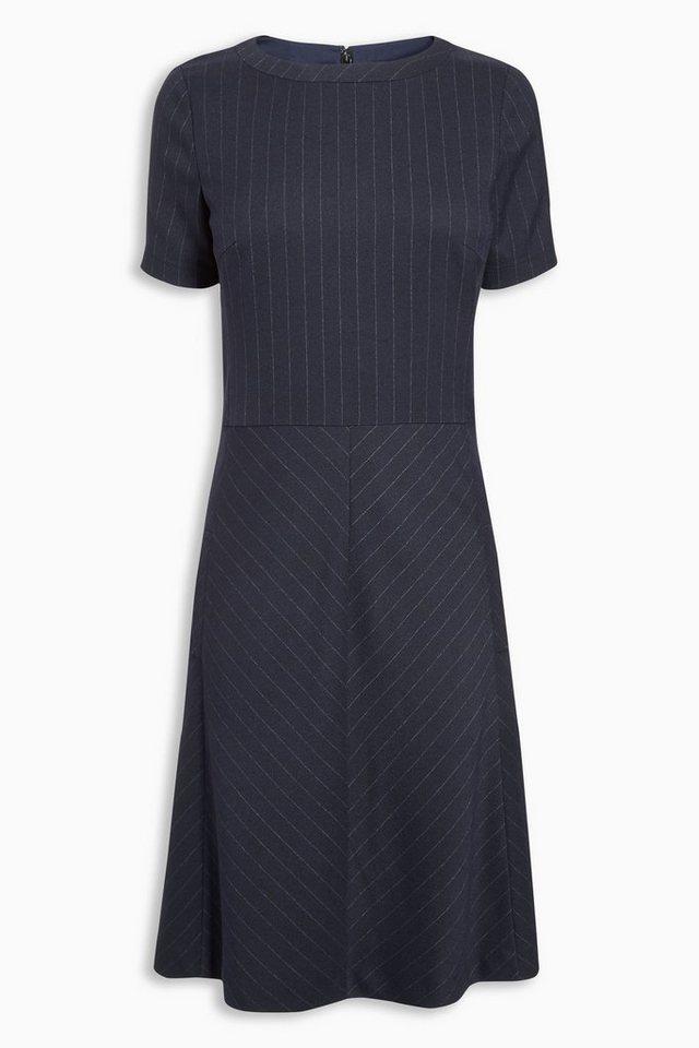 Next Gestreiftes Kleid aus Flanell in Navy Blue