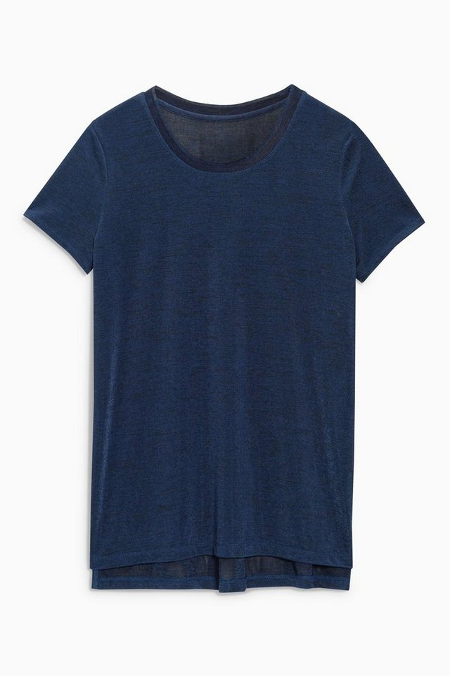 Next Funkelndes T-Shirt in Navy