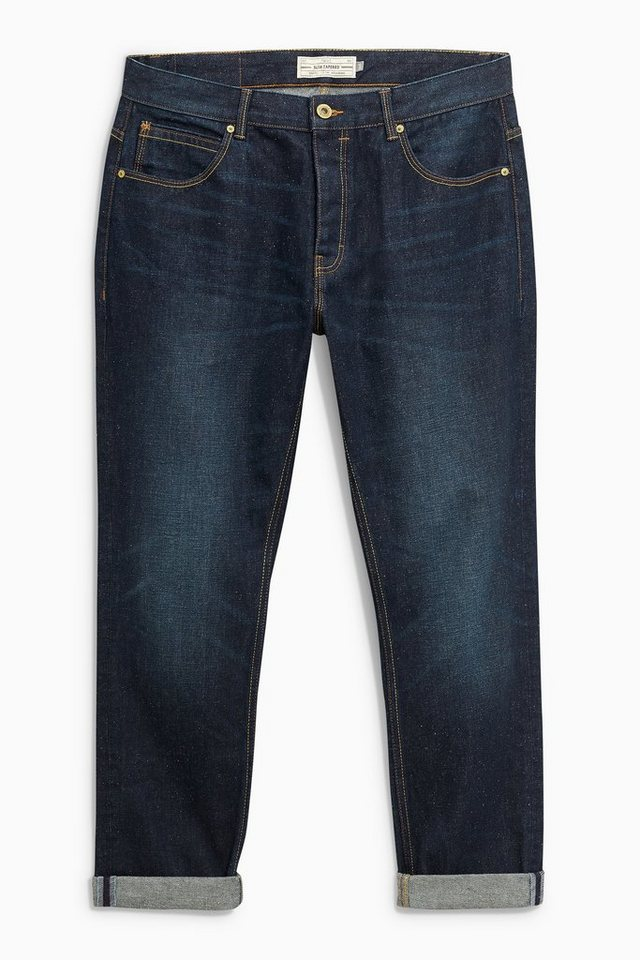 Next Tapered-Fit Jeans in Noppenoptik in Blue Tapered Fit