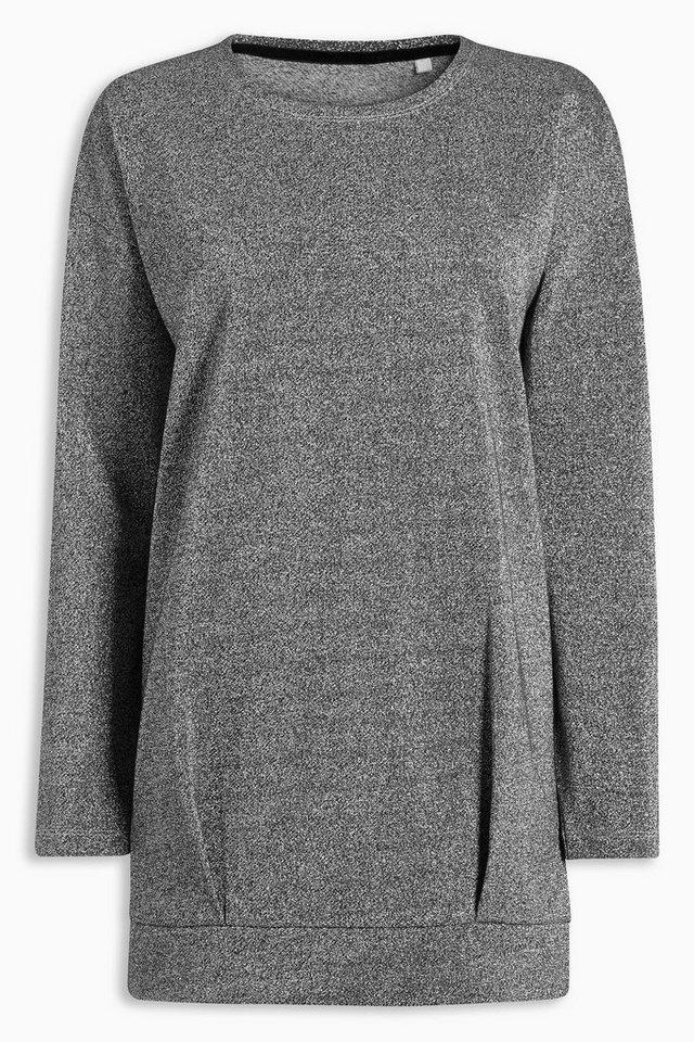 Next Pullover mit Metallic-Effekt in Silver Grey