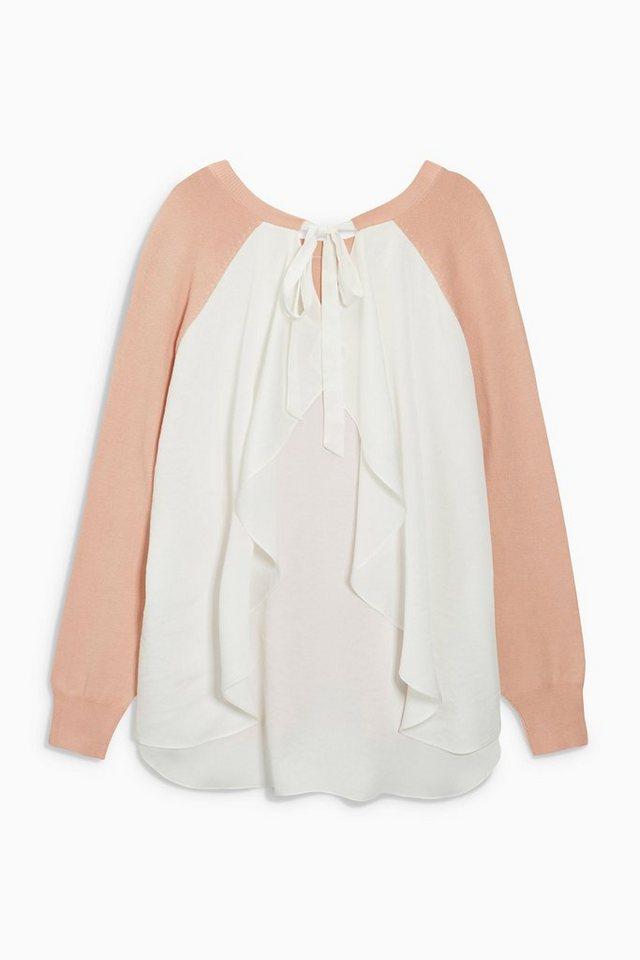 Next Sweatshirt mit gerüschter Rückenpartie in Blush Pink
