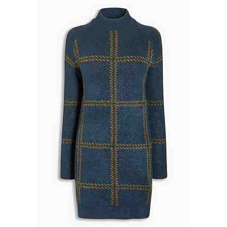 Next Hochgeschlossenes Kleid mit Schottenkaro