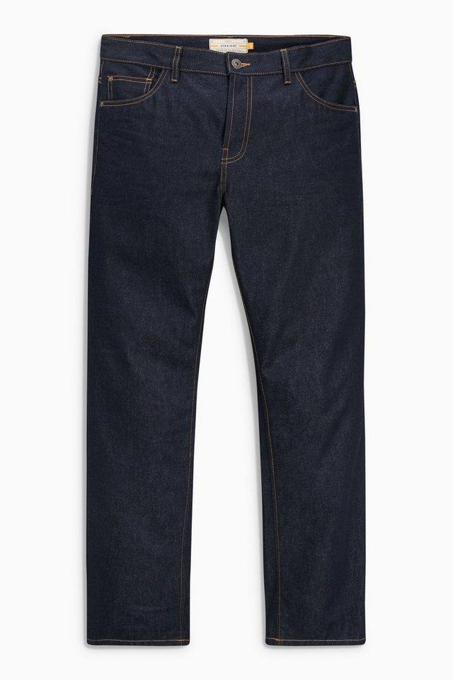 Next Raw Denim-Jeans in Blue Straight Fit