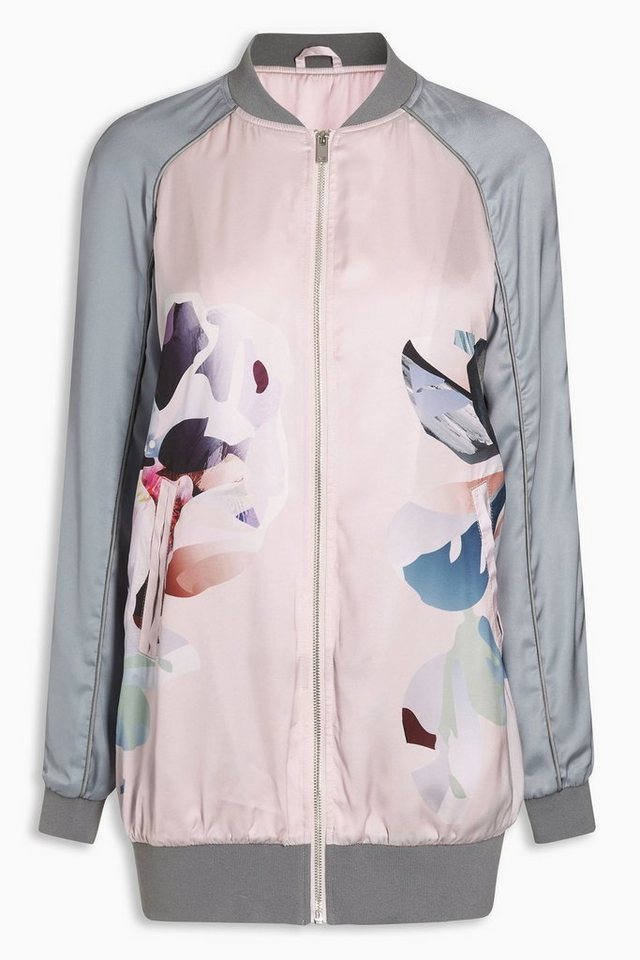 Next Jacke mit floralem Muster in Blush Pink
