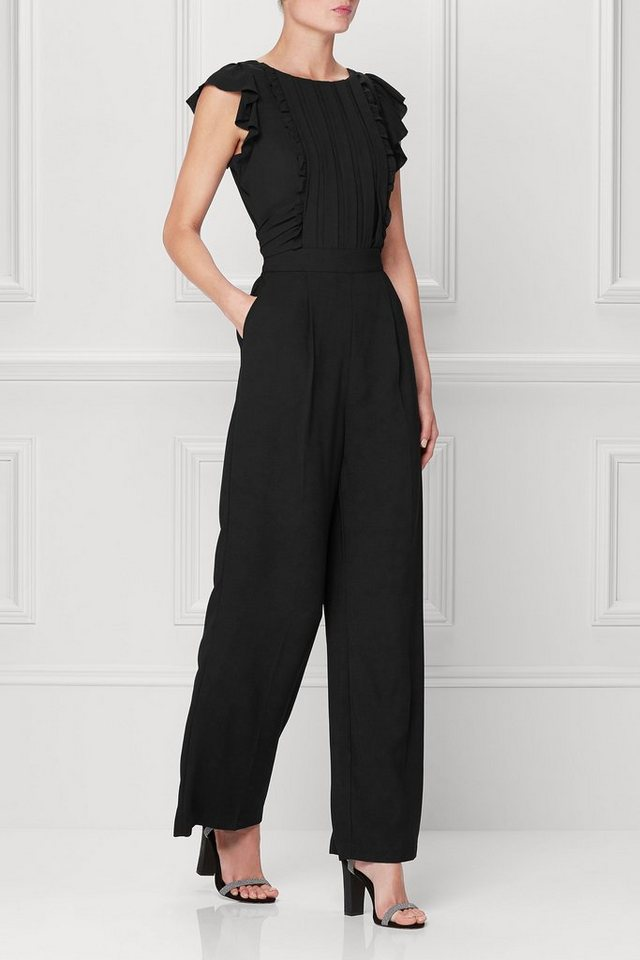 Next Jumpsuit mit Faltendetail in Black