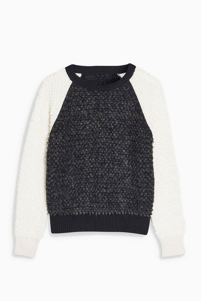 Next Pullover mit Schlingenmuster in Blockfarben in Grey