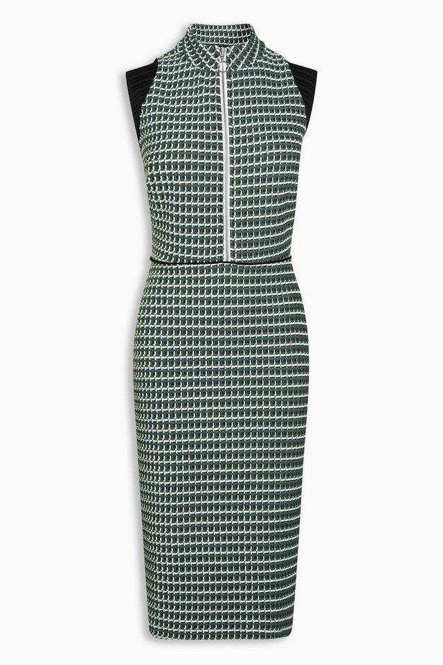 Next Jacquard-Kleid in Green