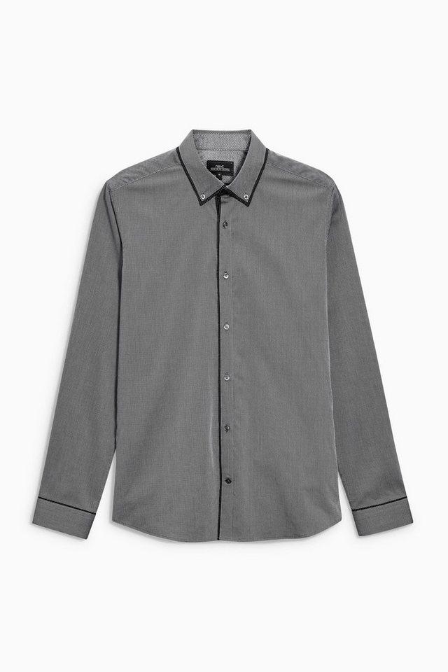 Next Elegantes Hemd mit Doppelkragen in Grey