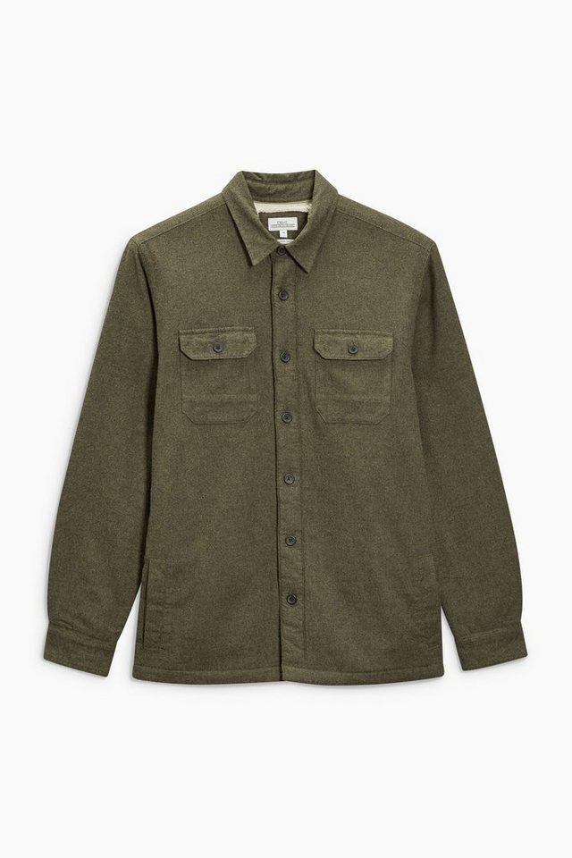 Next Gefüttertes Hemd in Jackenform in Green