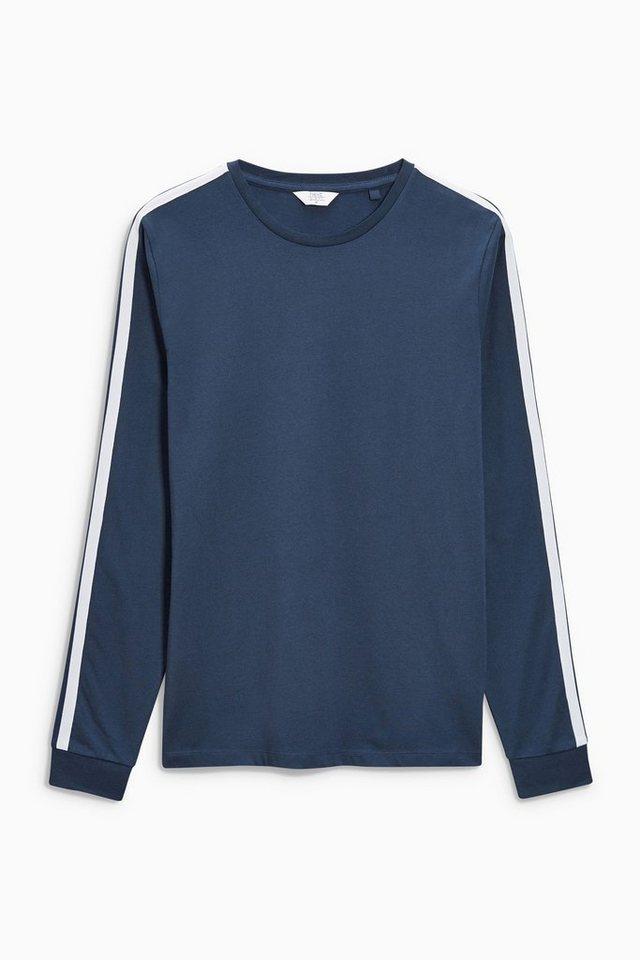 Next Shirt mit Banddesign in Navy