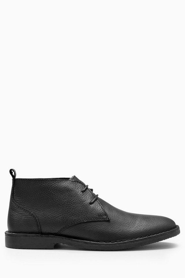 Next Stiefel aus Leder mit Teddyfell in Black