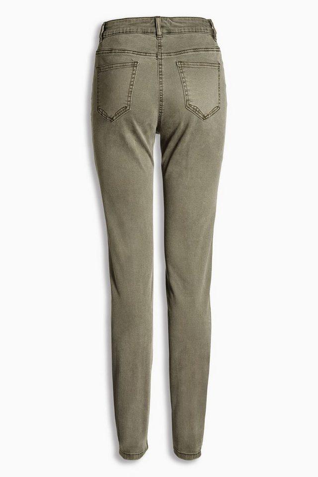 Next Jeans im Utility-Look mit Reißverschluss in Khaki
