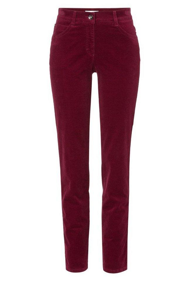 BRAX Damenhose Five-Pocket »SARA« in BURGUNDY