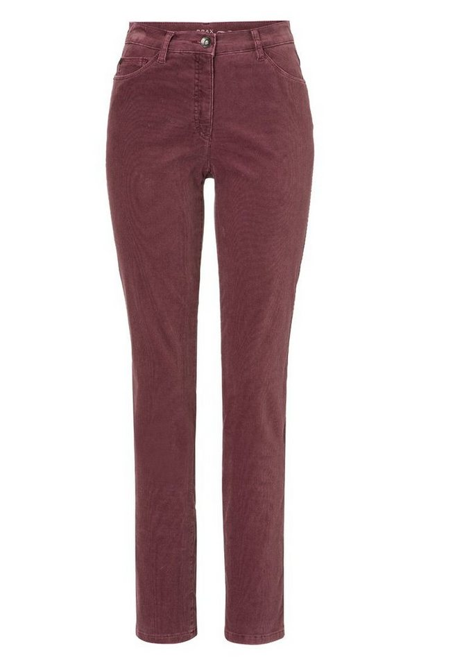 BRAX Damenhose Five-Pocket »CAROLA« in MAROON
