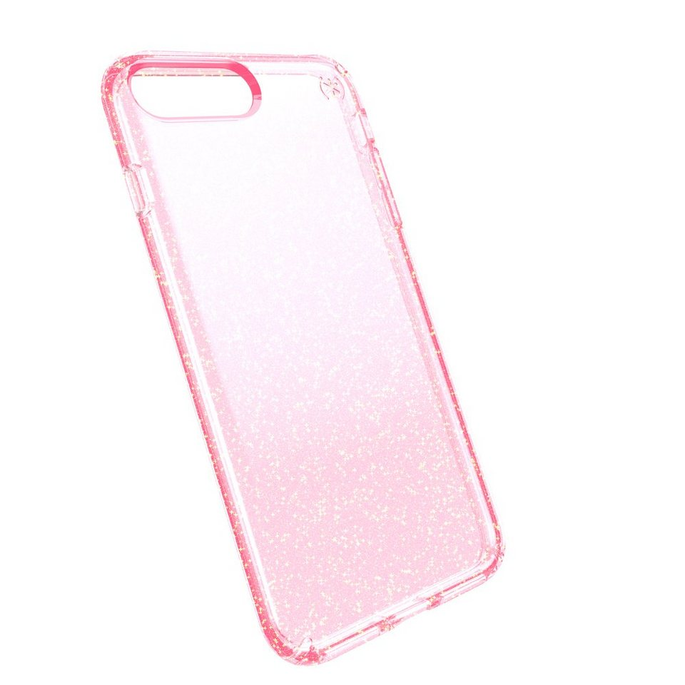 Speck HardCase »PRESIDIO iPhone (7) Plus CLEAR GLITTER ROSE PINK W« in transparent