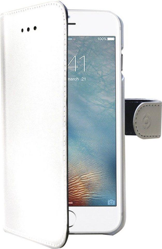 Celly Kunstledertasche passend für das iPhone 7 »Wally Case« in weiß