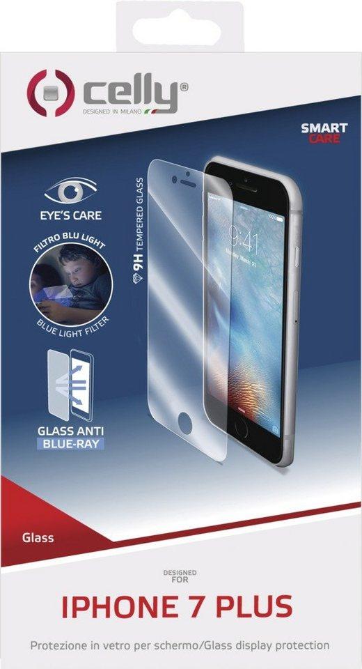 Celly Sehr dünne Displayschutzfolie für das iPhone 7 Plus »Tempered Glass« in transparent