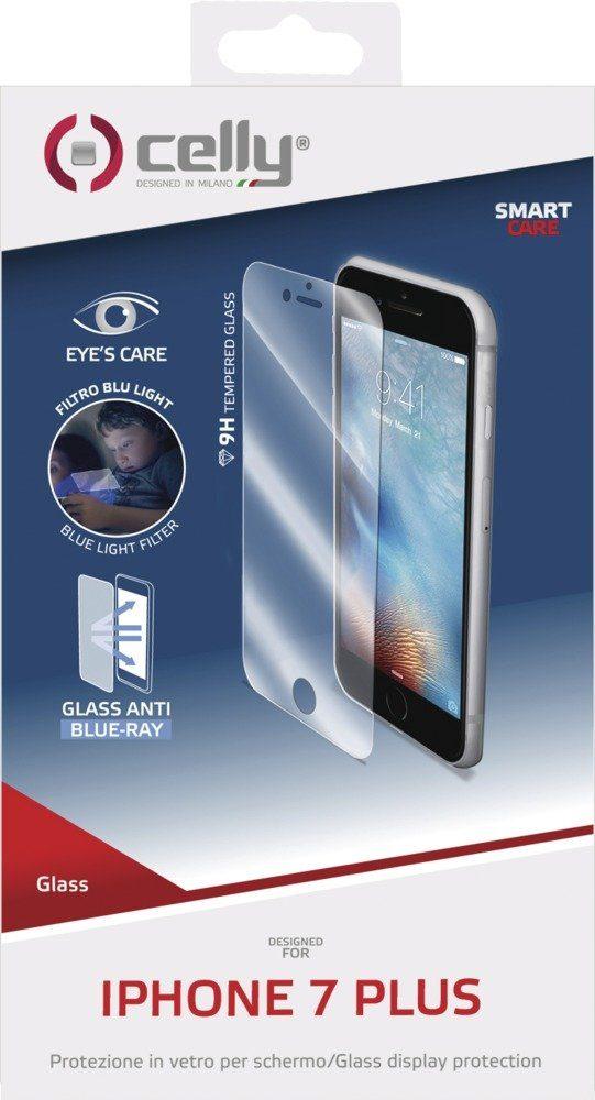 Celly Sehr dünne Displayschutzfolie für das iPhone 7 Plus »Tempered Glass«