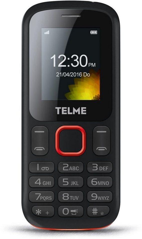 TELME Handy »T210« in Schwarz-Rot