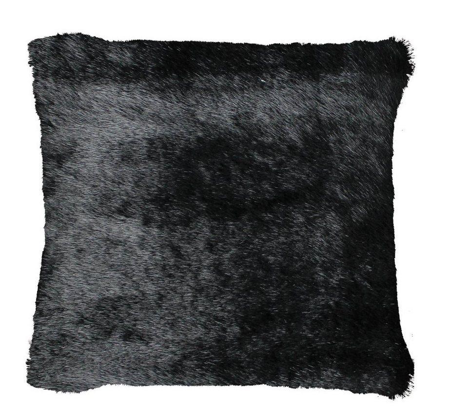 Dekokissen, Gözze, »Nerz«, im Fell-Look in schwarz