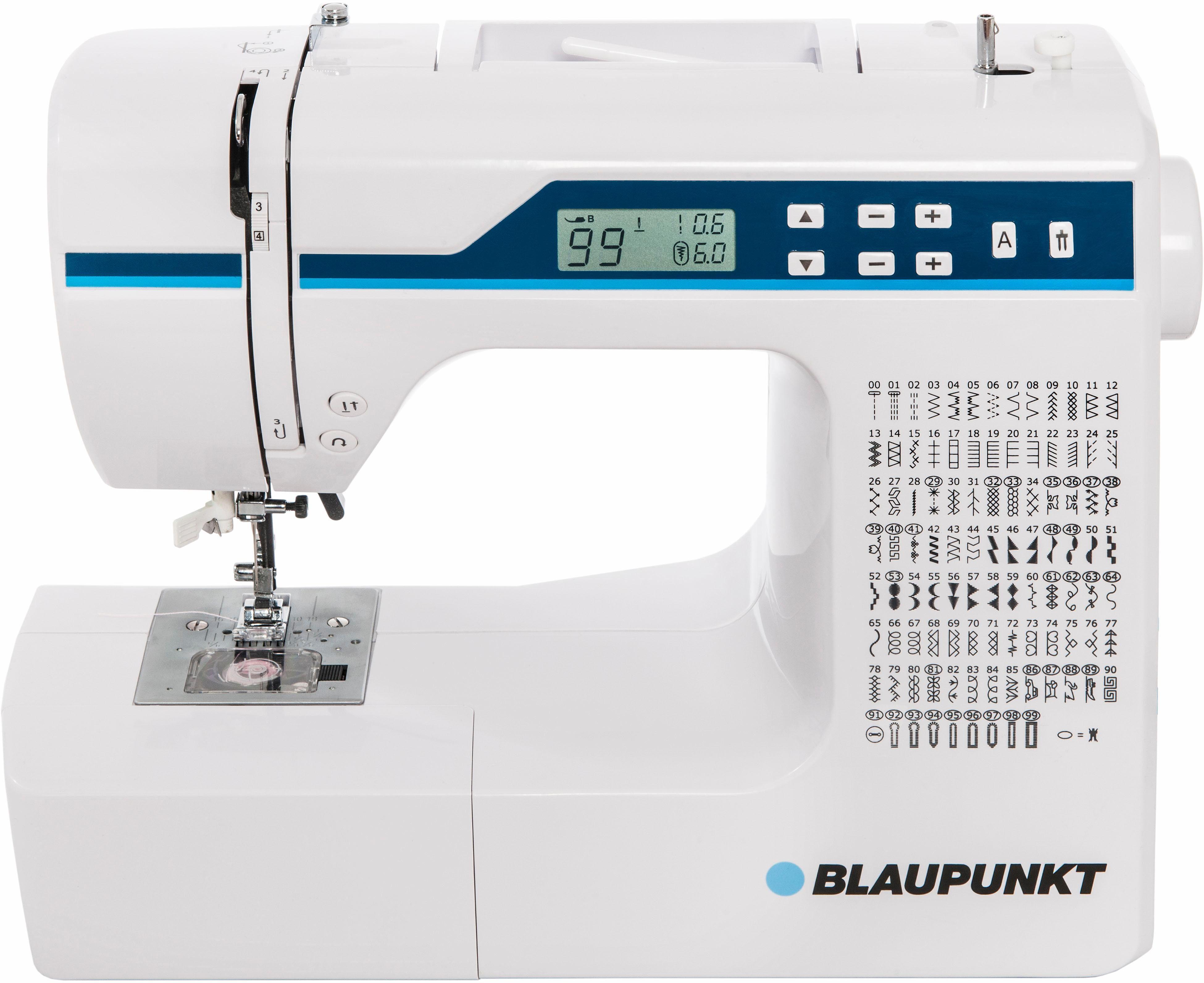 Blaupunkt Nähmaschine Comfort 930, 200 Stichprogramme, mit Zubehör